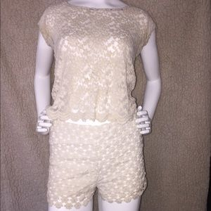 Tops - See through top and shorts. Bathing suit cover up